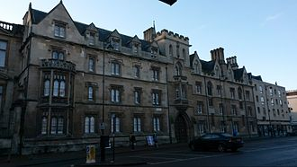 Exeter College, Oxford - Exeter College's Broad Street frontage