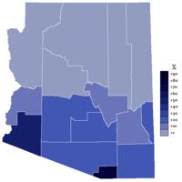Extensión del español en Arizona (fuente).