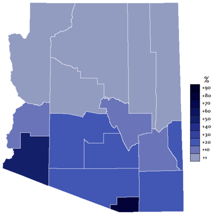 Extent of the Spanish language in the state of Arizona Extension spanish arizona.png