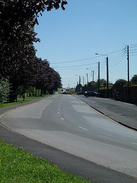 F-59570 Bavay, rue de Maubeuge, Ancient Roman road