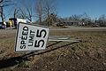 FEMA - 34187 - knocked over speed limit sign Polk County Arkansas.jpg