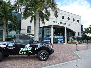 Florida Gulf Coast Eagles - The front of Alico Arena on the campus of FGCU