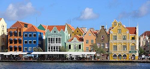 Facades of Handelskade, Willemstad, Curaçao - February 2020.jpg