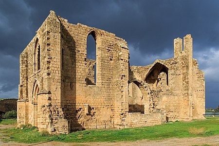 Famagusta, Cyprus: ruin of Carmelite Church in the walled city