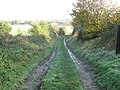 Farm track heading down from the Leftwich estate onto the flood plain of the River Dane - geograph.org.uk - 2689683.jpg