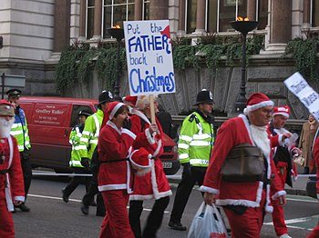 Protest march by supporters of Fathers for Jus...
