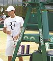 Federer Practising Before Final.JPG