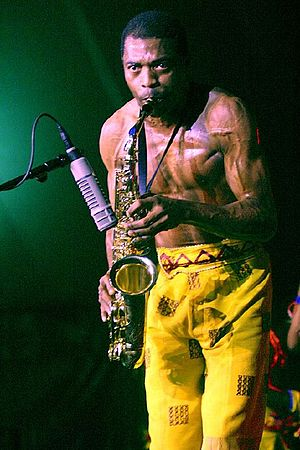 Femi Kuti - Kuti performing in London