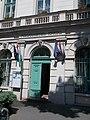 Ferencváros Town Hall. Bakáts Square building complex. Listed ID 8158. Street door. - 14, Bakáts Sq., Ferencváros, Budapest.JPG