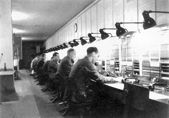 Maybach I and II - A telephone exchange of the complex, 1942