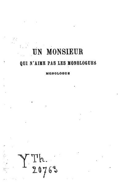 File:Feydeau - Un monsieur qui n'aime pas les monologues.djvu