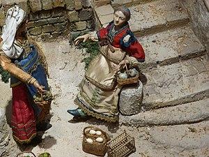 Museo de Historia de Madrid - Image: Figuras del pesebre napolitano, del siglo XVIII, del Museo de Historia de Madrid