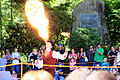 Fire eater, Drake Day Circus at Drake Well Park, August 24, 2013.jpg
