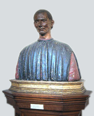 Polychrome bust of Niccolò Machiavelli (perhap...