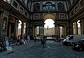Firenze - Florence - Il cortile degli Uffizi - ICE Photocompilation Viewing from SSE to SSW on Piazzale degli Uffizi.jpg