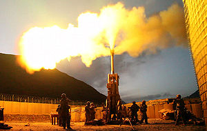 M777 howitzer - Image: Firing rounds with an M777 Howitzer Afghanistan 2009