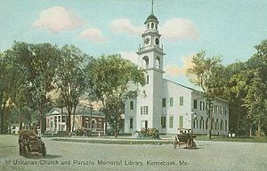 Kennebunk, Maine - First Parish Church in 1909