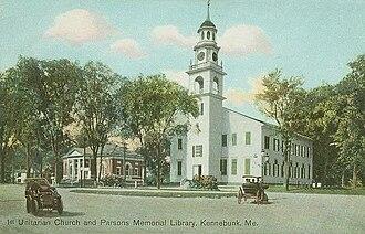 Kennebunk, Maine - First Parish Church in 1909