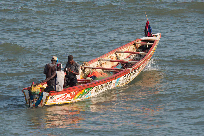 Fishing boat in the Gambia River