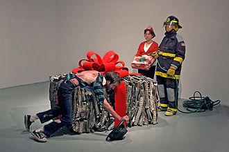 Performance art - Bryan Zanisnik, performance of When I Was a Child I Caught a Fleeting Glimpse, 2009