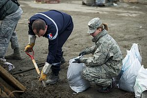 301st Intelligence Squadron - 301st Intelligence Squadron officer assists with tsunami cleanup