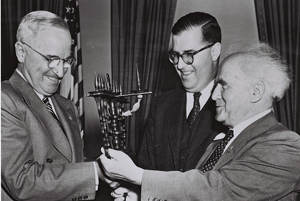 Flickr - Government Press Office (GPO) - P.M. BEN GURION, MR. ABBA EBAN AND U.S. PRESIDENT HARRY TRUMAN