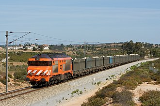 Comboios de Portugal - A CP freight train in 2009
