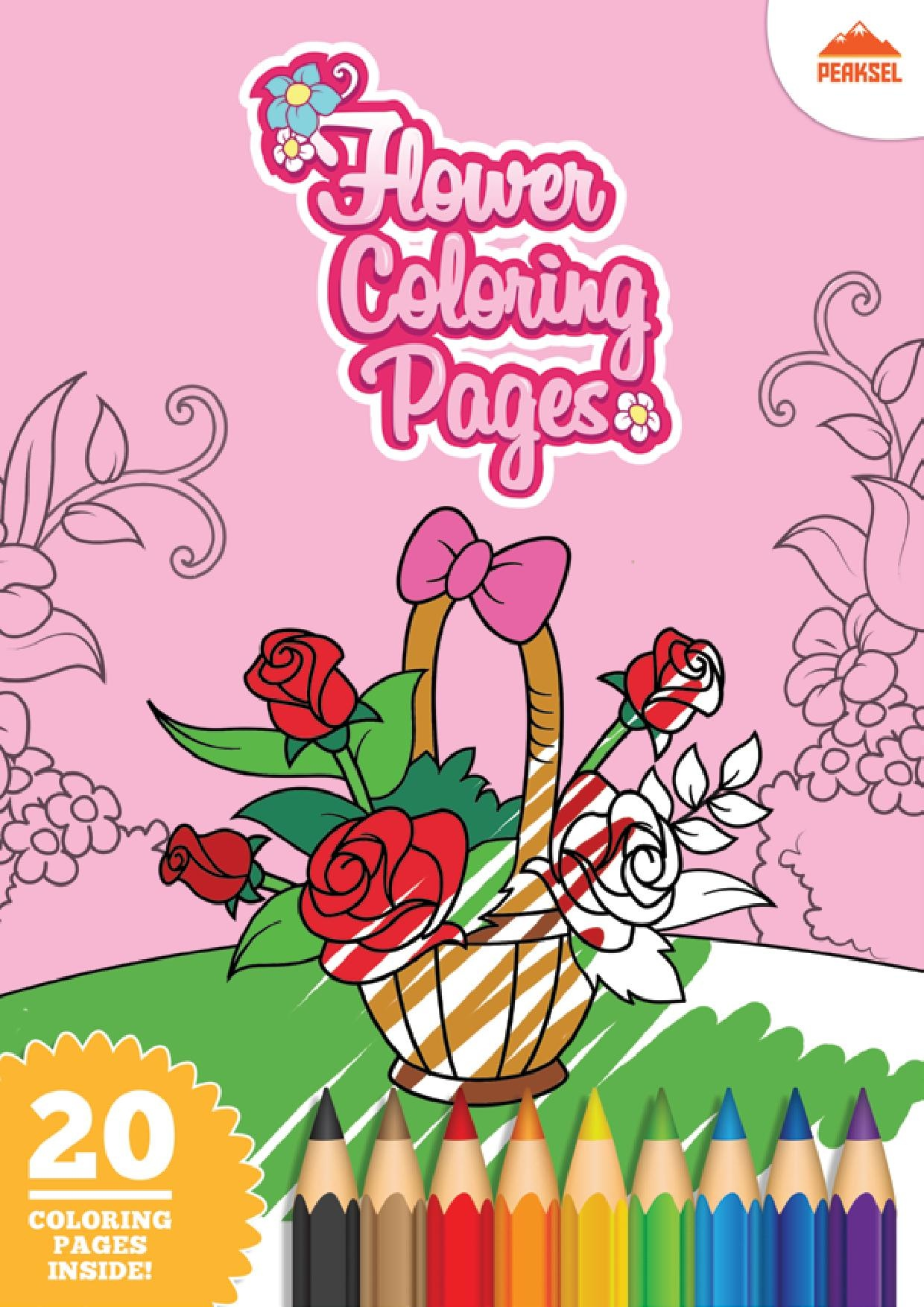 File Flower Coloring Pages Printable