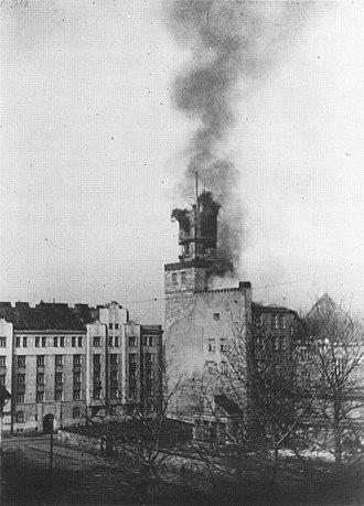 Battle of Helsinki - The Worker's House on fire