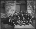 Football Team on Office Steps, 1915 - NARA - 251743.tif