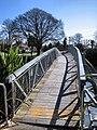 Footbridge over the Avon River, damaged in the 2010 Canterbury earthquake 2.jpg