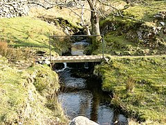 Footbridge over tributary of Afon Morfa - geograph.org.uk - 392789.jpg