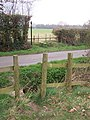 Footpath crosses Tattlebury Road - geograph.org.uk - 1220685.jpg