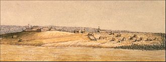 Moncton - Fort Beasejour in 1755. The Acadian fort was captured by British forces under the command of Robert Monckton.