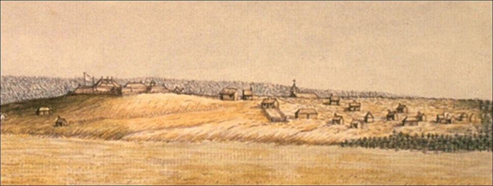 Fort Beausejour en 1755.