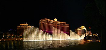 Fountains show at Bellagio, Las Vegas