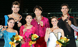 2011 Four Continents Figure Skating Championships - Pairs' podium