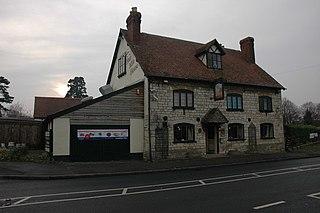 Brookthorpe village in United Kingdom