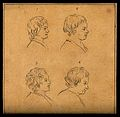 Four heads of boys. Drawing, c. 1793. Wellcome V0009205EL.jpg