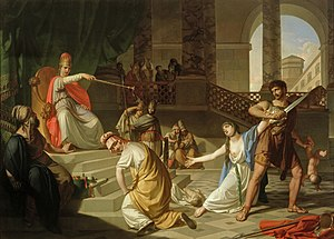 Franz Caucig - Caucig's best-known painting Judgment of Solomon, based on the Biblical story. Oil on canvas, ca. 1817.