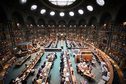 Reading room, Richelieu site France, Paris, Bibliotheque nationale de France, site Richelieu, salle ovale.jpg