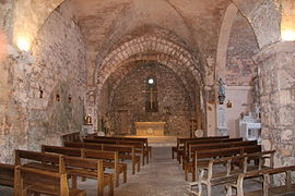 France Aveyron la Couvertoirade Eglise 00.jpg