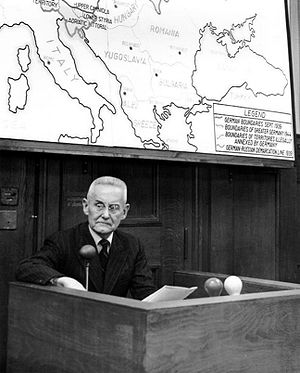 Franz Halder - Halder as a prosecution witness in the High Command Trial in 1948