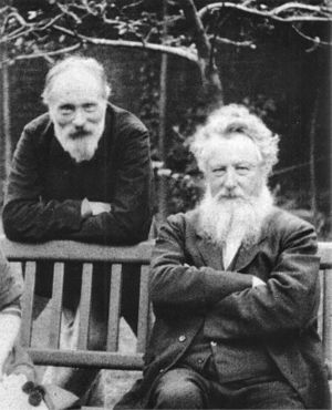 Edward Burne-Jones (left) and William Morris (...