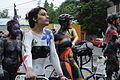 Fremont Solstice Parade 2011 - cyclists prepare 24.jpg