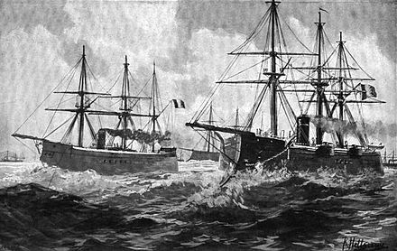 French warships at sea in 1870 FrenchFleet1870.jpg