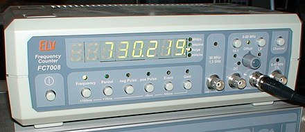 Modern frequency counter Frequency counter.jpg