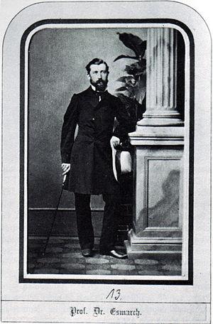 Tönning - Friedrich von Esmarch in 1862