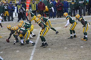 Matt Flynn - Flynn (second from right) leading the Packers on December 22, 2013