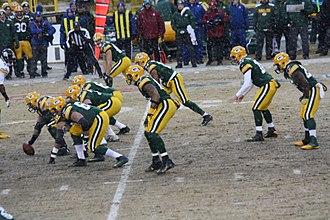 Matt Flynn - Flynn (second from right) leading the Packers on December 22, 2013